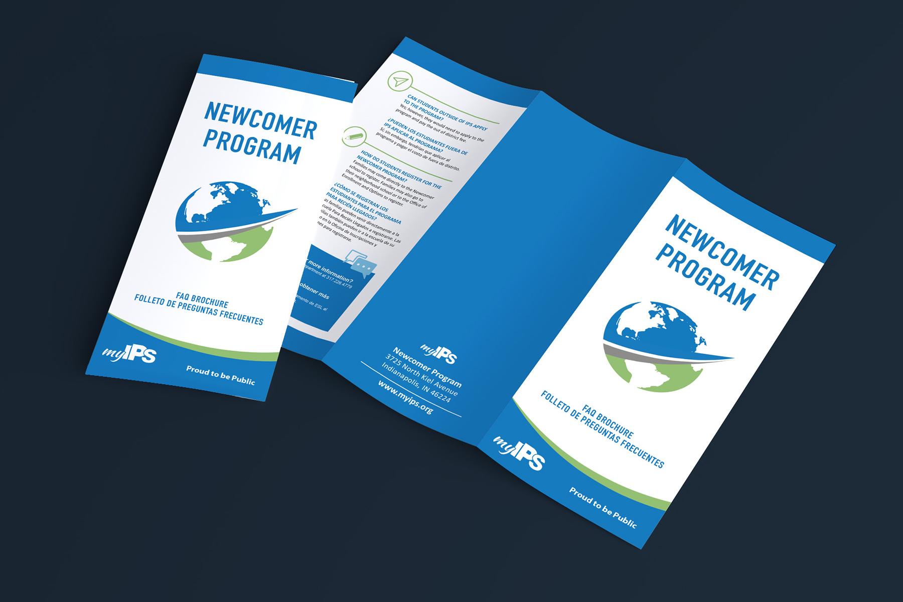Indianapolis Public Schools - Newcomer Program Brochure Design